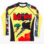 Mens Batman Comic Rash Guard Front Loose