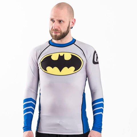 ADULTS Batman Silver Age Logo Rash Guard - Long Sleeve - Fusion FG Australia