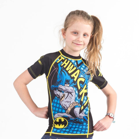 {{product.type}} - Batman THWACK! Rash Guard - Short Sleeve - Pancho Michael {{ shop.address.country }}