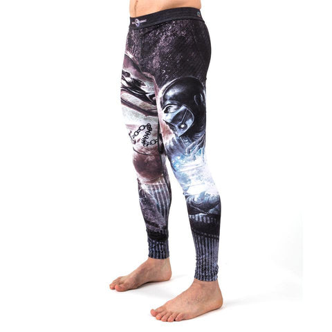 {{product.type}} - Mortal Kombat Sub Zero vs. Scorpion Rash Tights - Pancho Michael {{ shop.address.country }}