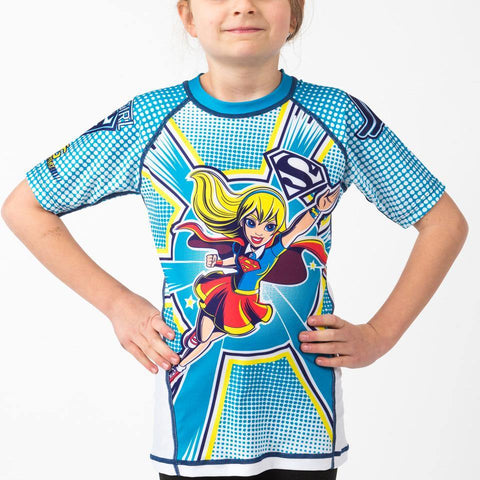 {{product.type}} - Supergirl Rash Guard - Short Sleeve - Pancho Michael {{ shop.address.country }}