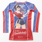 Wonder Woman Bombshell Rash Guard - Long Sleeve