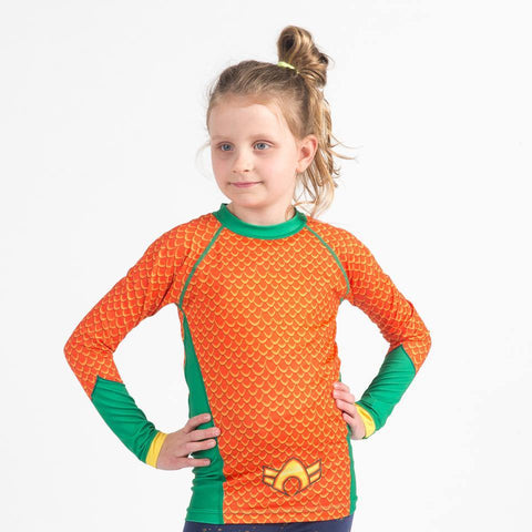 Aquaman Rash Guard - Long Sleeve
