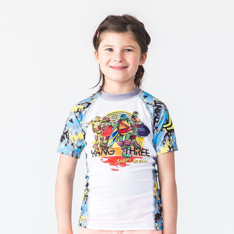 TMNT Hang Three Rash Guard - Short Sleeve - Pancho Michael