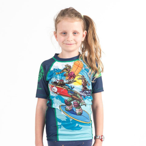 {{product.type}} - TMNT Surfin' Rash Guard - Short Sleeve - Pancho Michael {{ shop.address.country }}