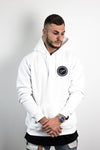 DRWS Greek Circle Hoodie White