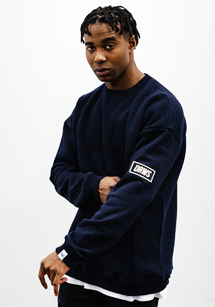 DRWS Patch Crewneck Navy Blue
