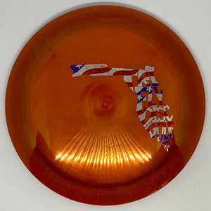 Dynamic Discs Metallic Lucid Enforcer - Tri-Fly Florida Stamp