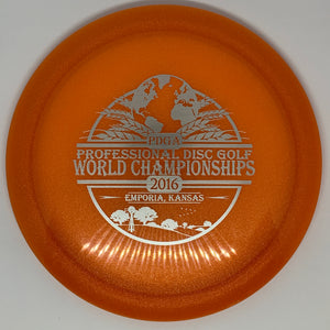 Latitude 64 Metallic Opto Culverin - 2016 Professional Disc Golf World Championships stamp