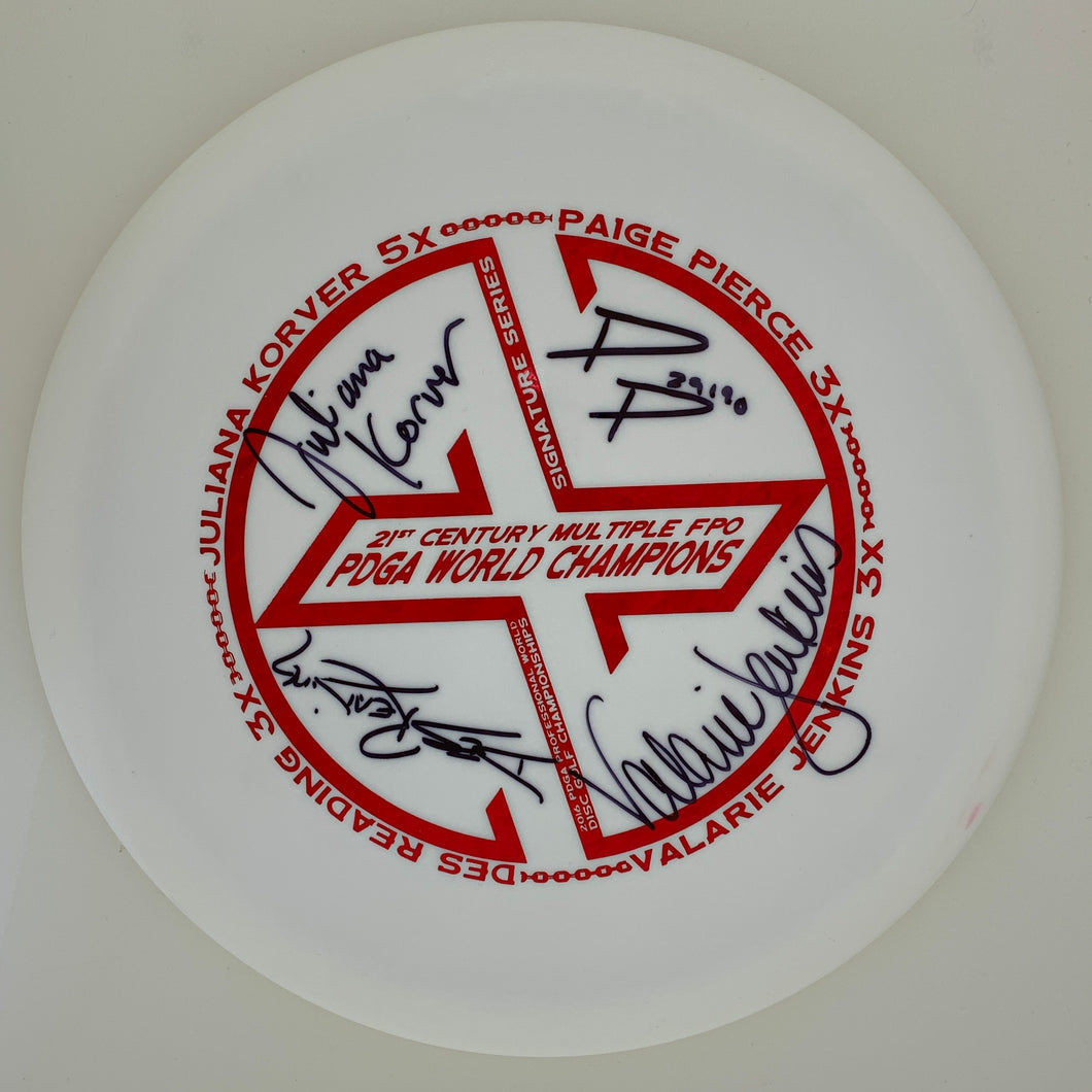 Dynamic Discs Fuzion Truth - Fundraiser Multiple FPO World Champ stamp Signatures Series w/ Backstamp