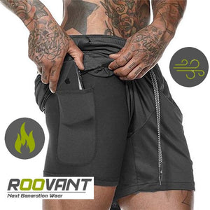 Roovant™ | The FreeliX | Men Sports Shorts with phone pocket | Compression & Style