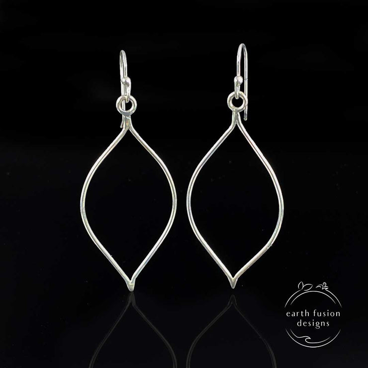 Sterling Silver High Polished Teardrop Earrings