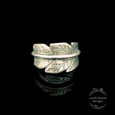 Sterling Silver Adjustable Leaf Ring