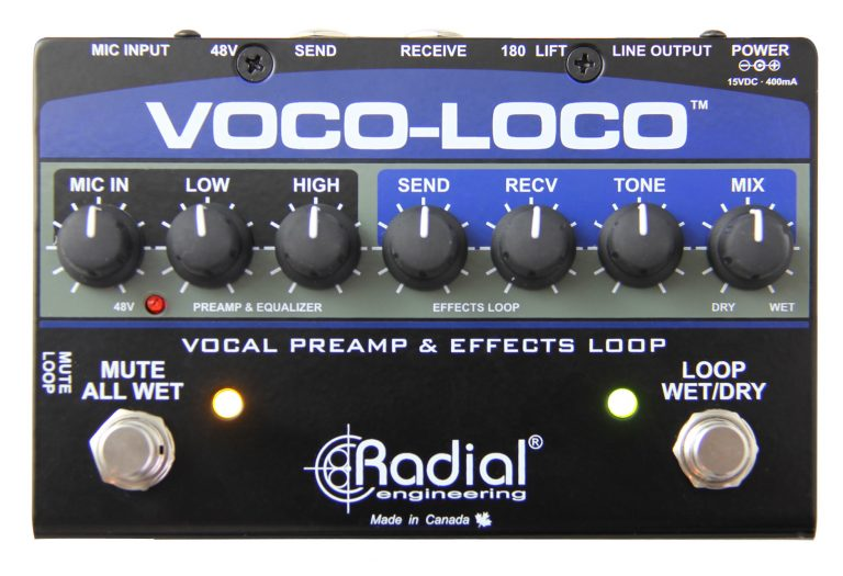 Voco-Loco Effects Switcher for Voice or Instrument