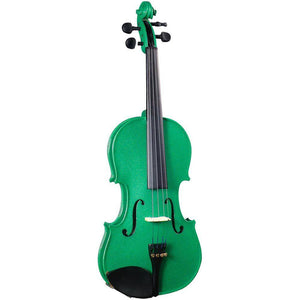 GR65100G: Cremona Full Size Violin, Green