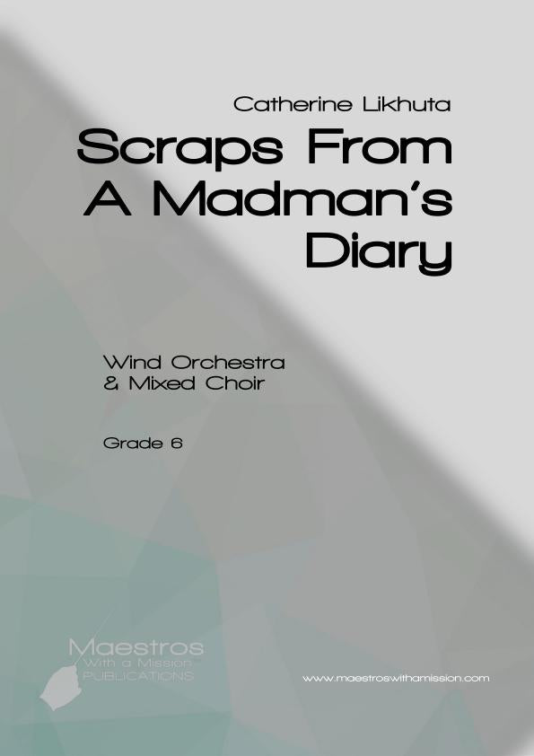 Scraps From A Madman's Diary (score and parts)