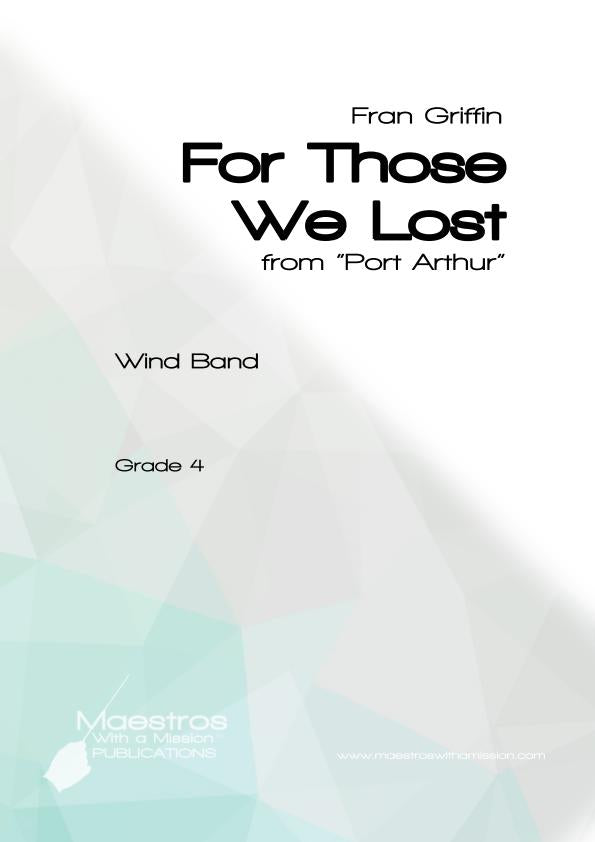 For Those We Lost (score and parts)
