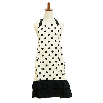 photo of the FRIENDS HILL Connie Polka Dot Design  Short Apron  (Length Approx. 75cm)