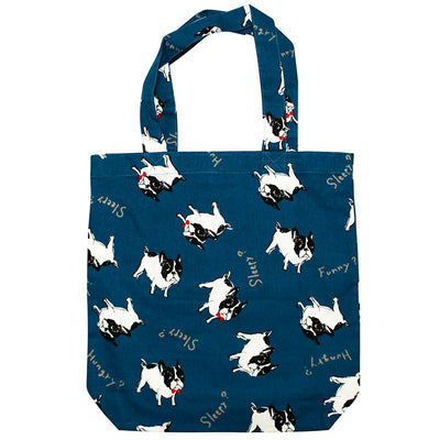 photo of the FRIENDS HILL Tote Bag Bullton Dog Pug Frenchie Design A4 Size  39×38cm