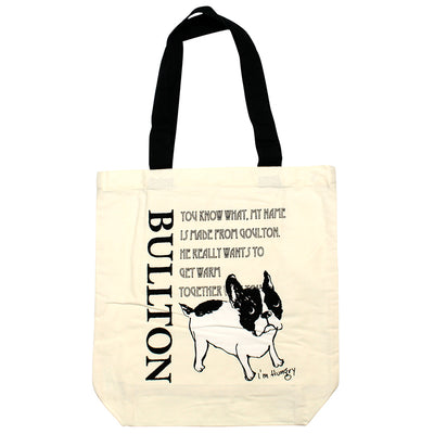 photo of the FRIENDS HILL Tote Bag Bullton Dog Pug Frenchie Design Times A4 Size  39×38cm