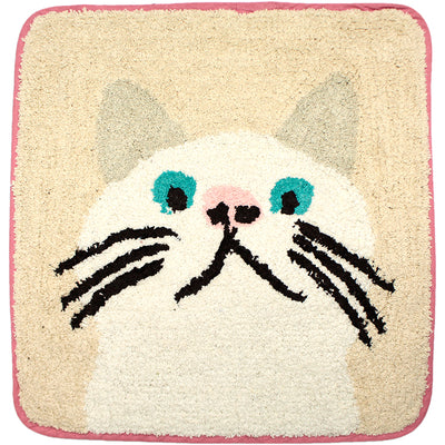 photo of the FRIENDS HILL Mat Rug Square Taa-Chan Kitty Cat Kitten Kitty Kitten Cats Mini  45×45cm