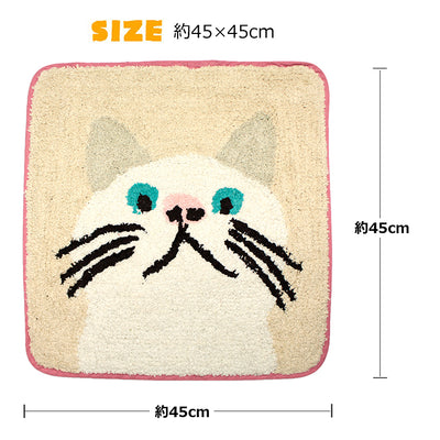 Mat Rug Square Taa-Chan Kitty Cat Kitten Kitty Kitten Cats Mini  45×45cm