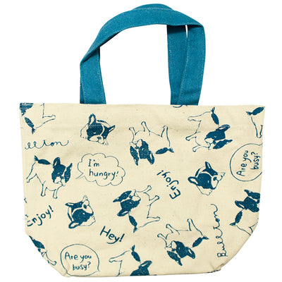 photo of the FRIENDS HILL Tote Bag Bullton Dog Pug Frenchie Design Field Mini  20×30cm