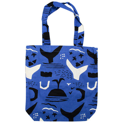 photo of the FRIENDS HILL Tote Bag Cooker Chef Whales Seagulls Design A4  39×38cm