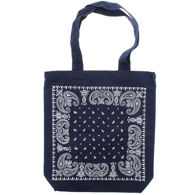 photo of the FRIENDS HILL Tote Bandana A4 Navy 39 X 38 Cm