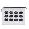 photo of the FRIENDS HILL Pouch Itazura Othello Flat Black 15.5 X 21 Cm