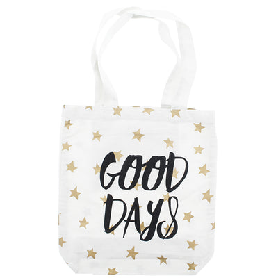 photo of the FRIENDS HILL Tote Bag Good Days A4 Ivory 39 X 38 Cm