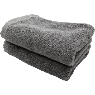 Imabari Towel Face Towel Soft Twisted Yarn Gentle 2 Piece Set Ash Grey