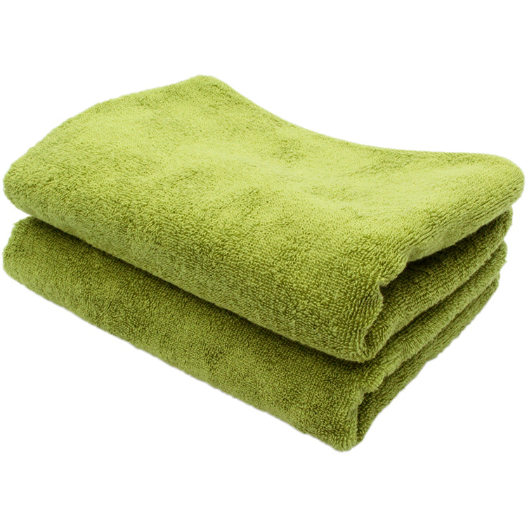Soft Face Towel 2 Piece Set -  Green