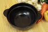 * Black Deep Clay Pot With White Lid 19cm - Size 6