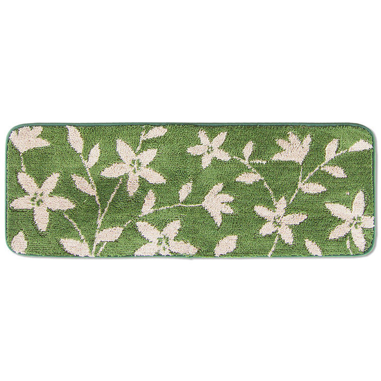Kitchen Mat Floral About 45 × 120cm Green