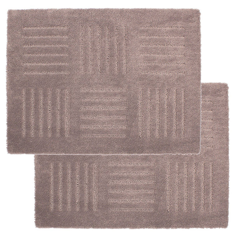 * Joint Kitchen Mat Pitapurasu Brick About 45 × 60cm (2 Disc) Brown