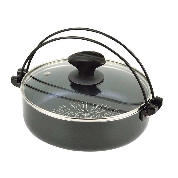 Extremity Blue Diamond Court Ih Correspondence With Glass Lid Sukiyaki Pot 20cm Of New Luxury