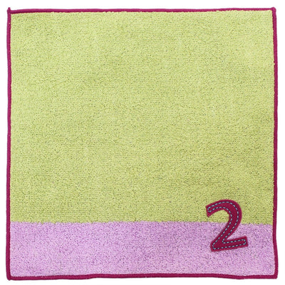 photo of the IMABARI TOWEL 【Imabari Towel】 Mama&Me Number-Color Kids Handkerchief (Length 20× Width 20cm) Light Green (No.2)