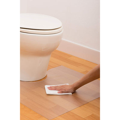 Easy Cleaning Transparent Toilet Mat  (78× 60 Cm)