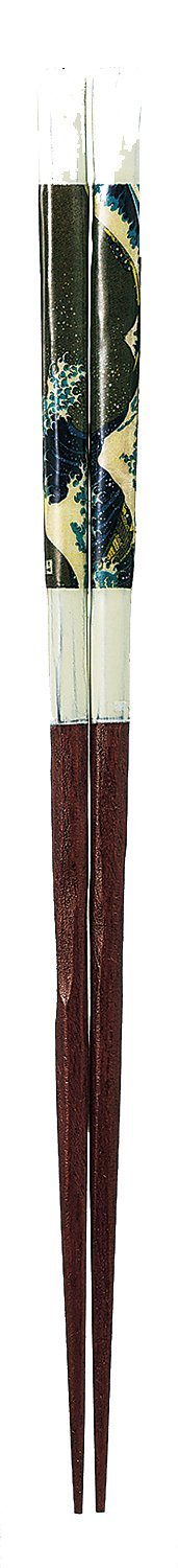 Lacquer-Painted Chopsticks One Pair Japanese Paper Fuji Wave (Namifuji) 23cm