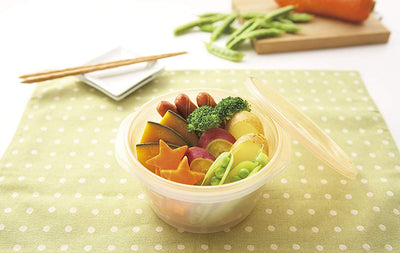 Vegetable Boiler Microwave Food Container Round