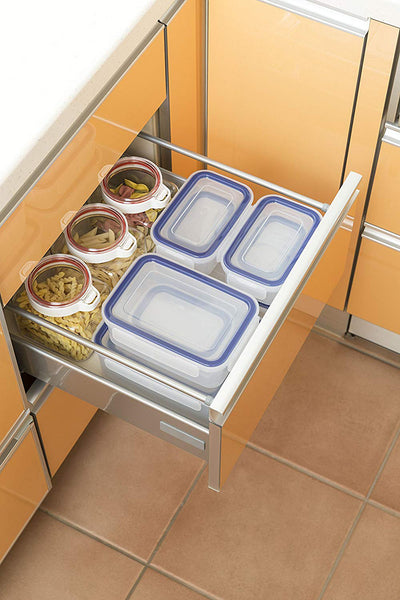Airtight Lock Food Storage Container Box, Easy Care 650ml