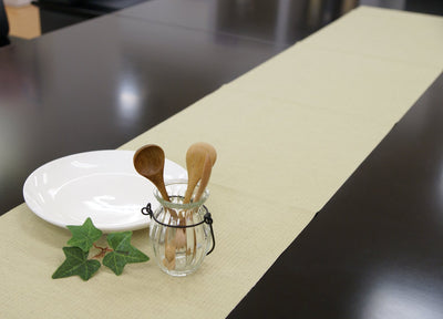 Decoor Interior Cloth Table Runner Natural Olive ( Green)