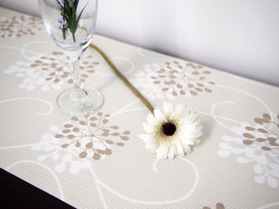 Decoor Interior Cloth Table Runner Dot Beige