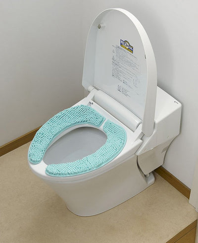 Bathroom Stick-On Suction Fluffy Soft Toilet Seat Cover Sheet