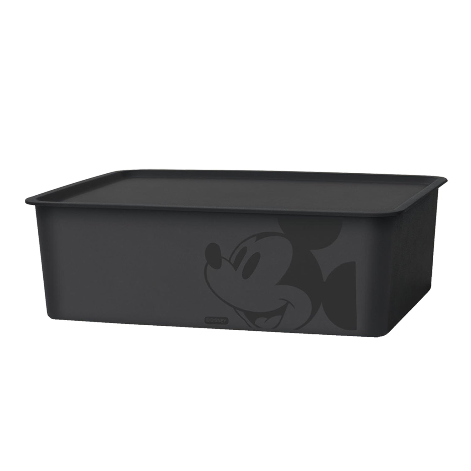 * Mickey Mouse Square Box With Lid Black