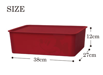 * Mickey Mouse Rectangular Box with Lid Dark Red - 38 x 27 x 12cm