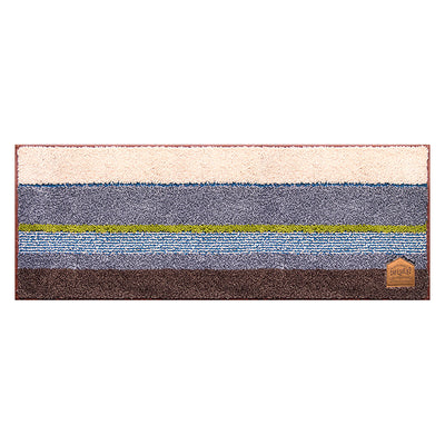 Photo of the OKATO Interior Mat Cafesulu? Maruchiru 45 × 120 Blue