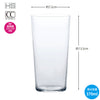 * Thin Ice Simple Design Glass Tumbler (Capacity 370ml) B-21112cs [Dishwasher Safe]