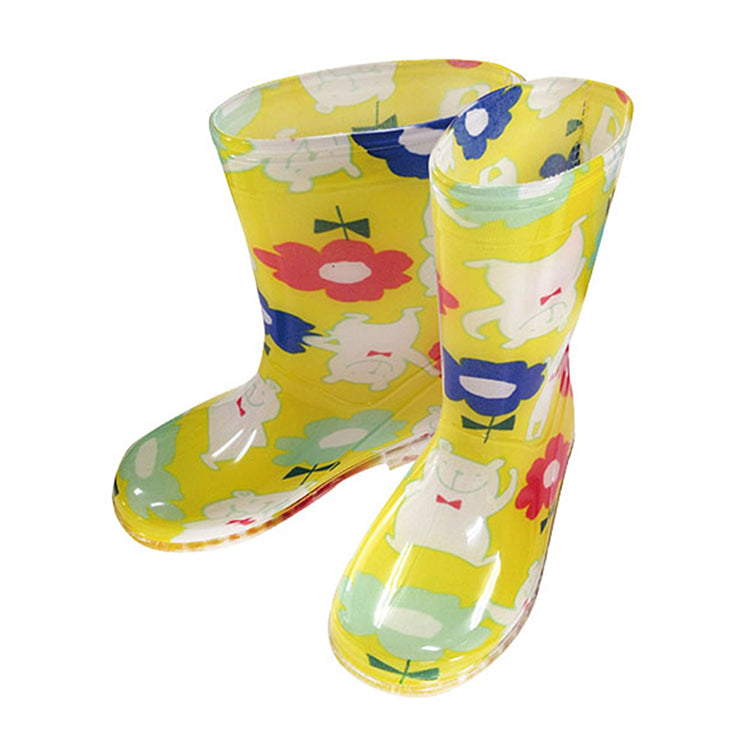 Kids rain boots 18cm Pokkapokke (Polar Bear) yellow
